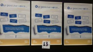 Our banners at the Health & Social Care Partnership today