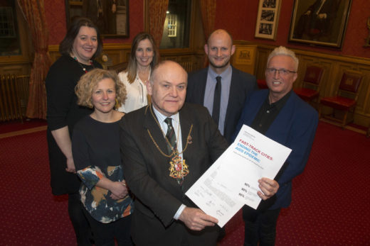 Lord Provost with those that arranged FTC in Aberdeen
